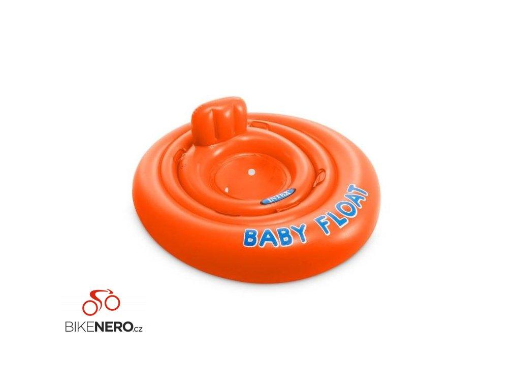Kruh dětský dvojitý Intex 56588 MY BABY FLOAT oranžový
