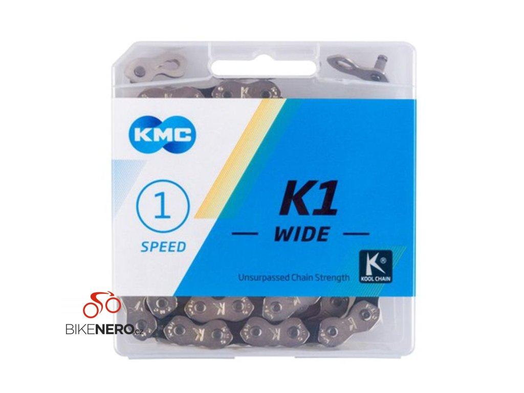 ŘETĚZ KMC K1 WIDE 1/2x1/8 STŘÍBRNÝ BOX