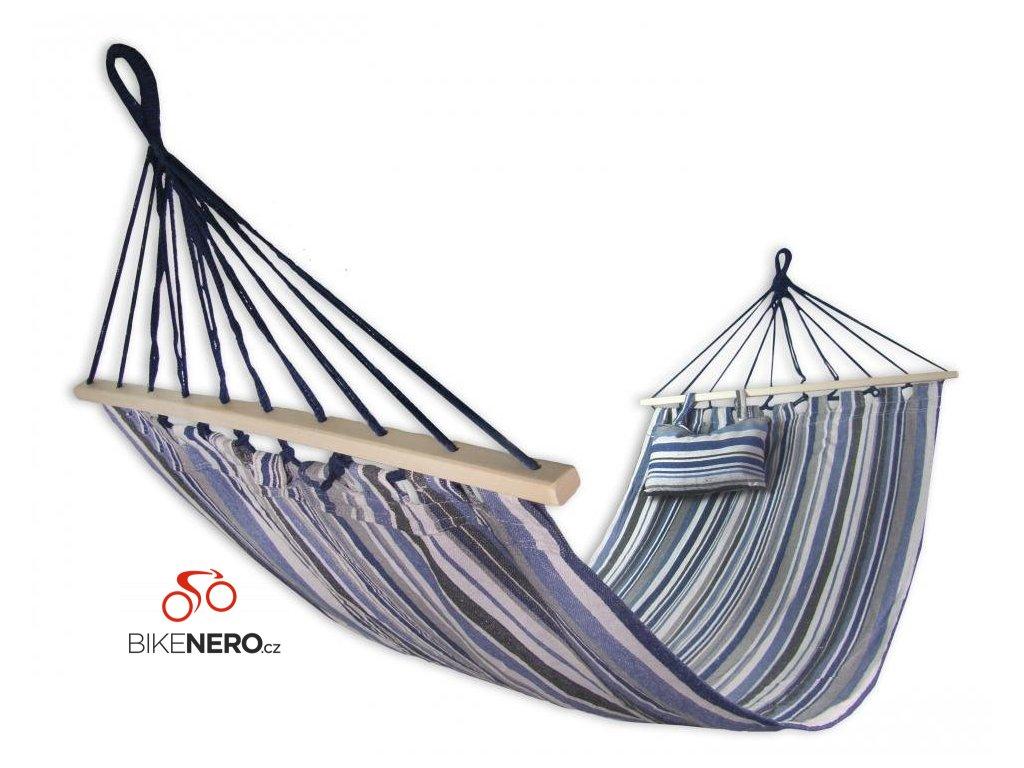 Houpací bavlněná síť Sedco 200x80cm s výztuhou a polštářkem