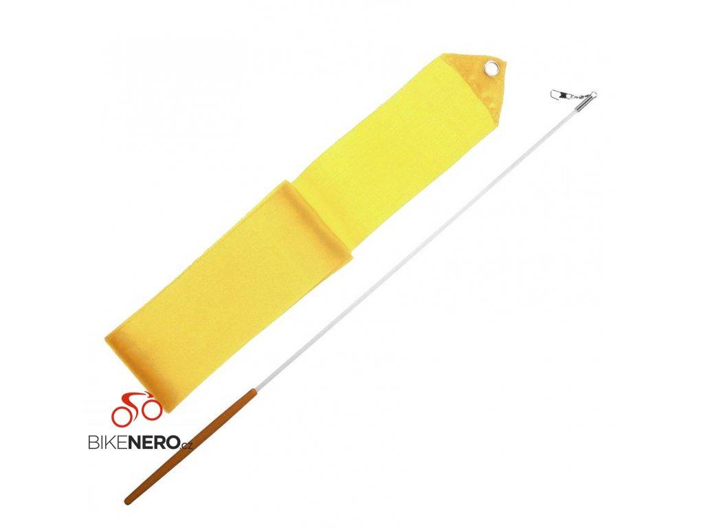 Gymnastická stuha + tyčka - žlutá