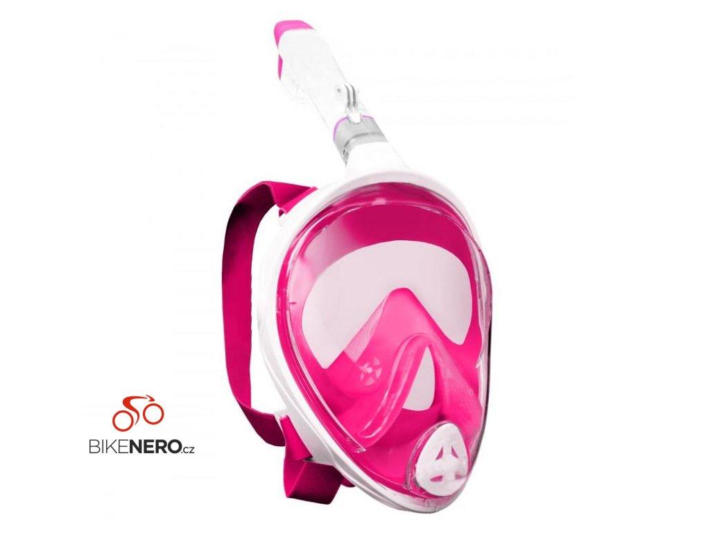 Potápěcí celoobličejová maska/brýle se šnorchlem růžová L/XL + adaptér GoPro BN1