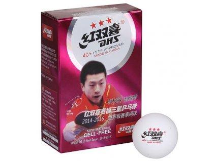 míčky na stolní tenis 40+ 3 hvězdy sada 6ks, plastové