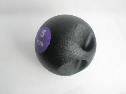 Míč medicinbal dual grip 5 kg