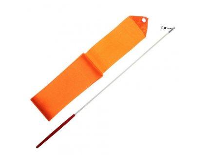 Gymnastická stuha + tyčka - oranžová