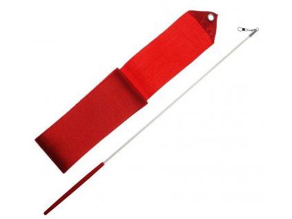 Gymnastická stuha + tyčka - červená
