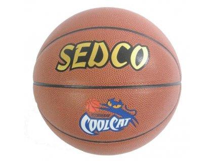 Míč basket SEDCO kůže COOL CAT - 5 DOPRODEJ