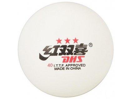Míčky DHS*** stolní tenis CELL FREE 40mm balení 6 ks