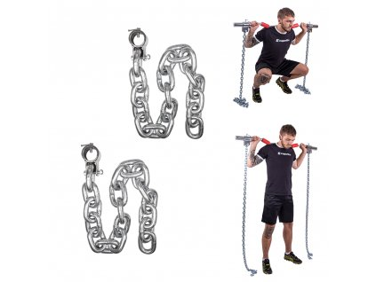 Vzpěračské řetězy inSPORTline Chainbos 2x30 kg