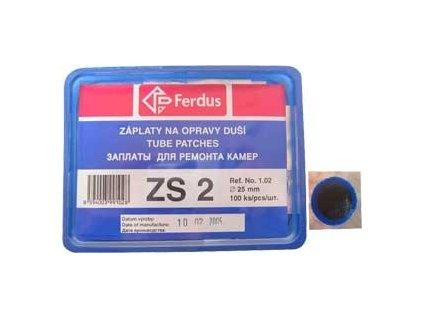 ZÁPLATY FERDUS ZS-2 PRŮMĚR 25MM BOX 100KS