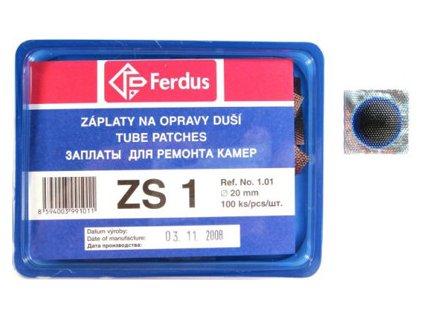 ZÁPLATY FERDUS ZS-1 PRŮMĚR 20MM BOX 100KS