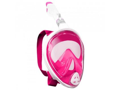 Potápěcí celoobličejová maska/brýle se šnorchlem růžová L/XL + adaptér GoPro