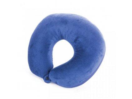 polštářek cestovní Spokey ADDER II mikrokuličky modrý