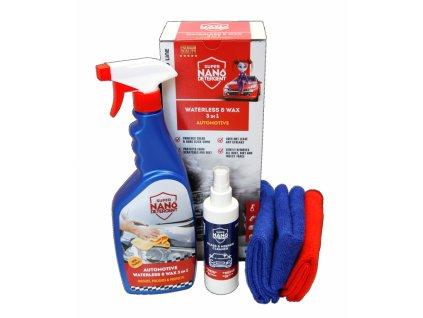 čistič autolaku NANOPROTECH Waterless & Wax 3v1 Automotive