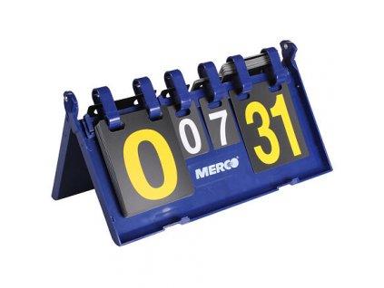 ukazatel skore Table 0-31 bodů, 0-7 setů