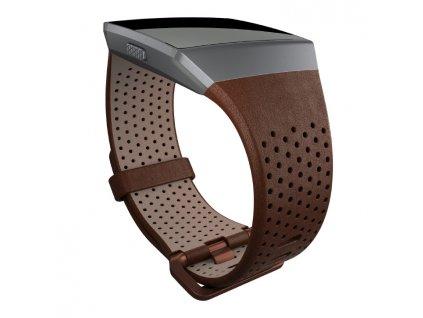 Náhradní řemínek Fitbit Ionic Leather Cognac