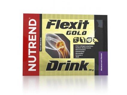 nápoj Nutrend Flexit GOLD Drink 10x20g černý rybíz