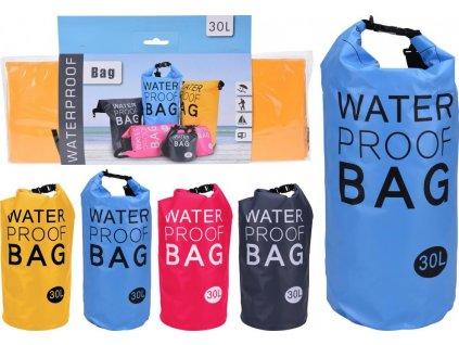 Vodácký batoh WATERPROOF BAG 30l žlutý