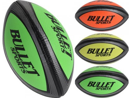 Dětský míč RUGBY BULLET SPORTS - 3 žlutý