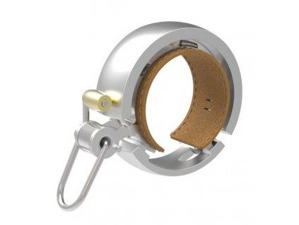 zvonek Knog Oi Bell LUXE stříbrný velký