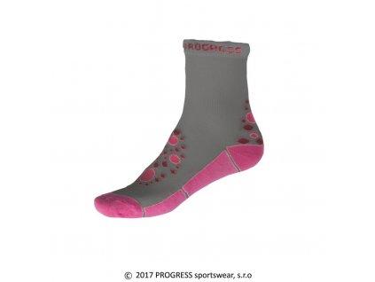 ponožky dětské Progress KSS šedo/růžové
