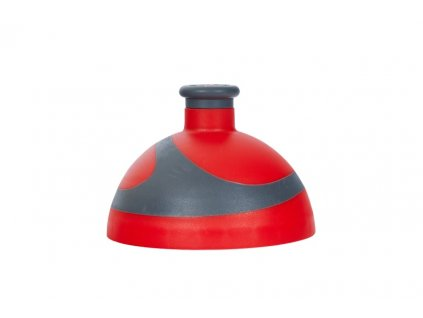 víčko 2K na lahev R&B červená/antracit
