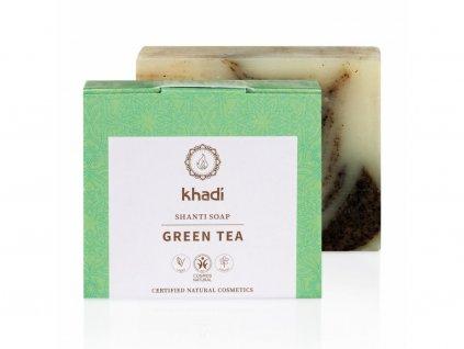 mýdlo Khadi Shanti Zelený čaj 100g