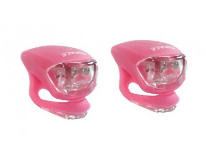 blikačka přední+zadní 4RACE LS03 silicon růžové
