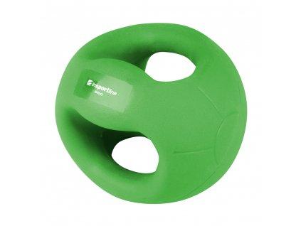 Medicineball s úchopy inSPORTline Grab Me 5 kg