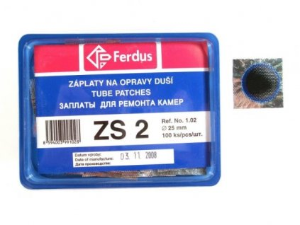 záplaty Ferdus ZS 2 25mm 100ks/1.83/ks
