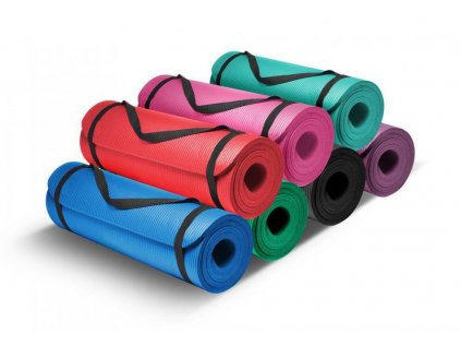 Karimatka na cvičení NBR COMFORT 183x61x0,8 cm bez otvorů fialová