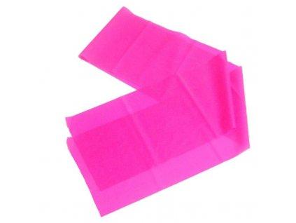 Latex aerobic guma 1200x150x0,35 mm RŮŽOVÁ