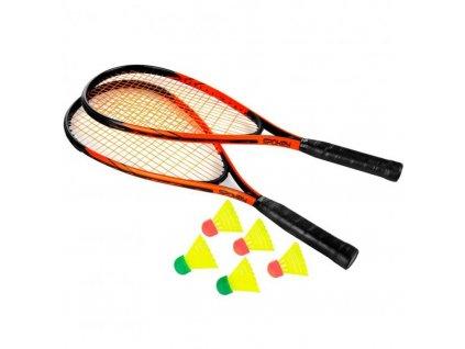 badmintonová sada SPIKY černo/oranžová