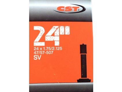 """duše CST 24""""x1.75-2.125 (47/57-507) AV/40mm"""
