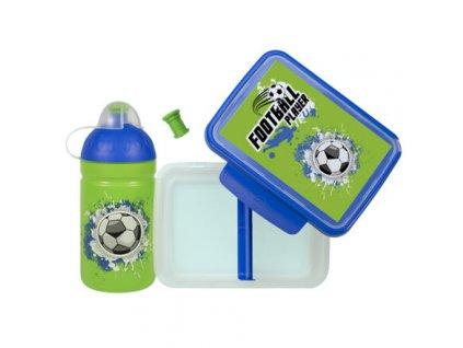 Fotbal láhev a svačinový box
