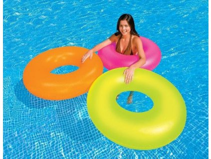 Kruh plavací INTEX NEON 91cm zelená