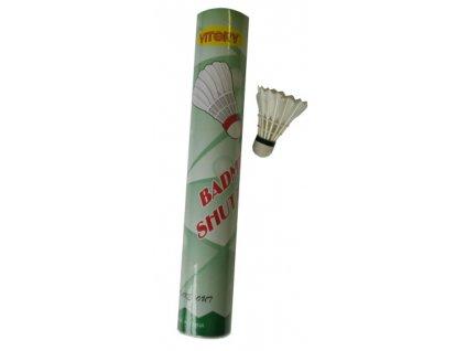 košíčky badminton peří 12ks bílé