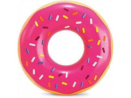 Kruh plavecký PINK FROSTED DONUT INTEX 99x25 cm