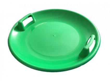 Sáňkovací talíř disk SUPER STAR- zelená
