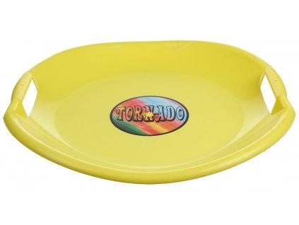 sáňkovací talíř Tornado plastový žlutý BN1