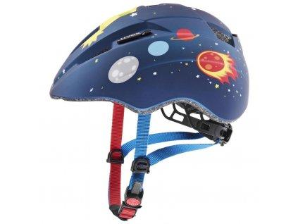 přilba dětská UVEX Kid 2 CC modrá vesmír matná 46-52