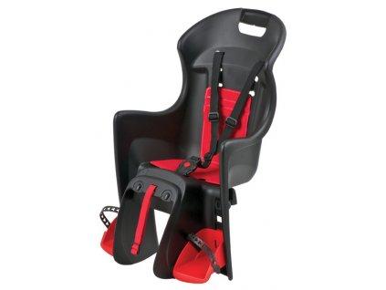 sedačka Polisport Boodie na nosič černo-červená