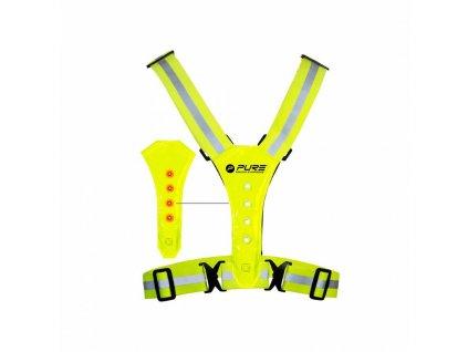 Reflexní vesta běh/cyklo P2I S LED OSVĚTLENÍM