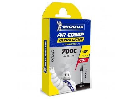 "duše MICHELIN AIR COMP ULTRALIGHT 28""x0.75/1.0 (18/25-622) FV/60mm"
