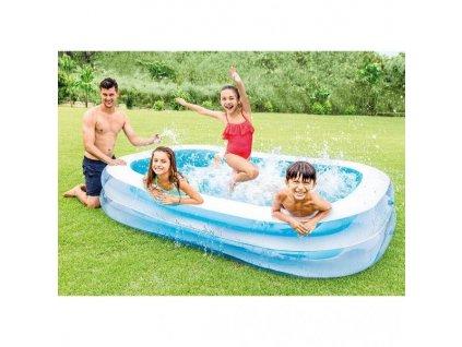 Bazén INTEX 56483 nafukovací FAMILY obdélník 262x175x56 BN1