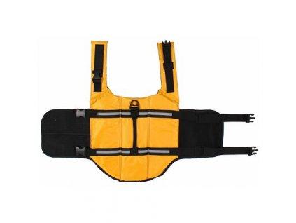 Dog Swimmer plovací vesta pro psa žlutá velikost oblečení XS