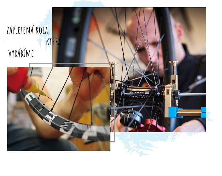 zapletená kola, která ručně vyrábíme