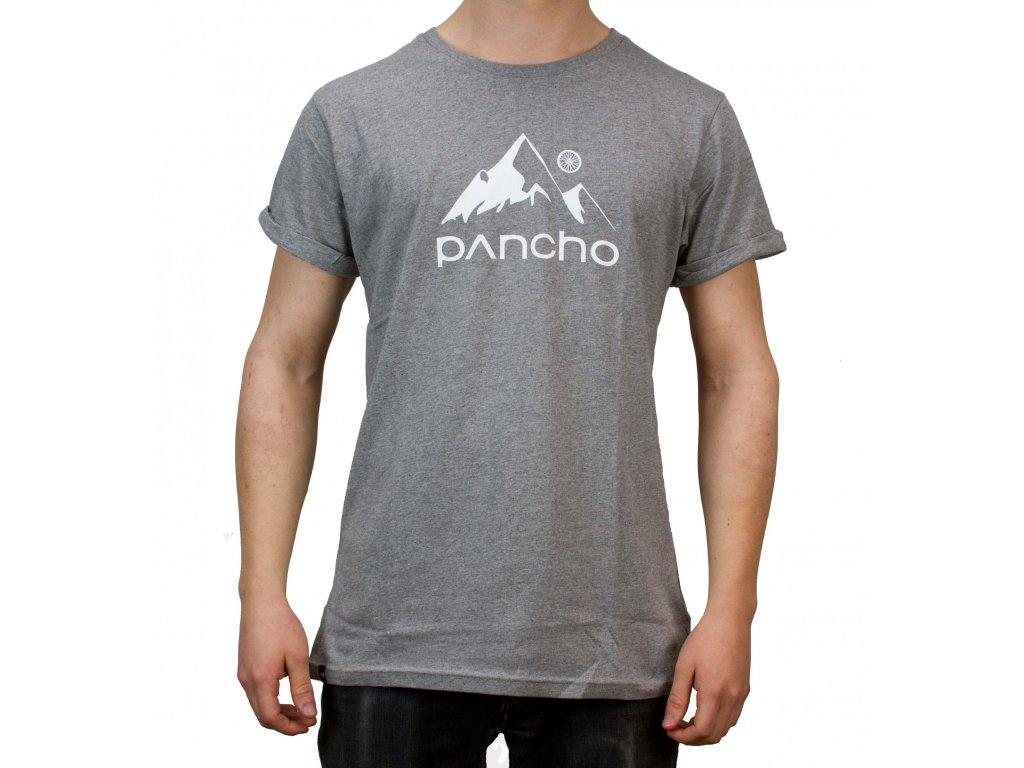Triko Panchowheels T-Shirt Mountain, šedá
