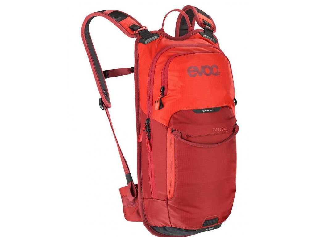 Batoh EVOC STAGE 6 + 2L Bladder, 6L, Orange - Chili Red
