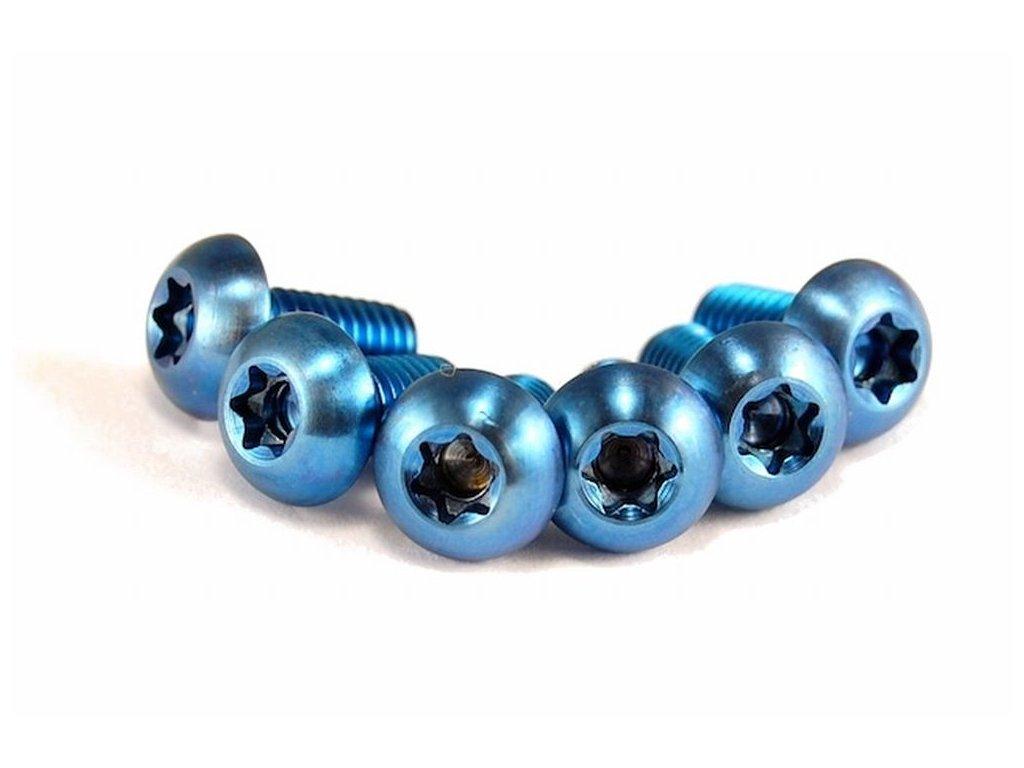 Titanový šroub M5x10mm -modrý torx