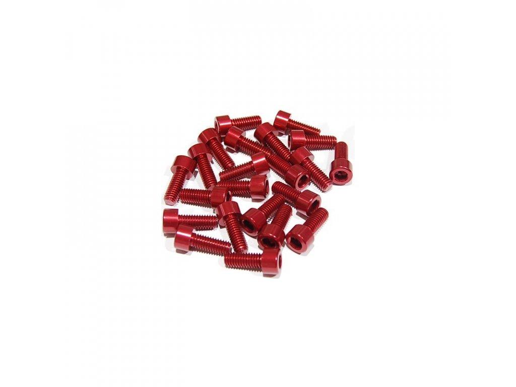 Šroub M5x16mm, červený
